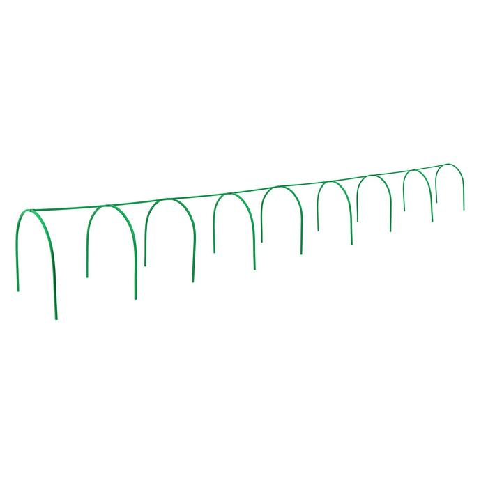 Каркас парника, 8 × 1 × 1 м, пластиковая профильная труба 22 × 22 мм, зелёный