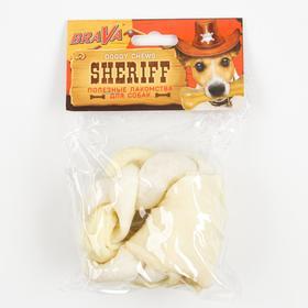 """Лакомство BraVa  Sheriff для собак кольцо косичка 3"""" 7,5см"""