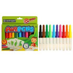 Фломастеры-блопены для ткани 10 цветов, Centropen 1539/10 Textile AirPens