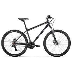 "Велосипед 27,5"" Forward Sporting 2.2 disc, цвет темно-серый/черный, размер 17"""
