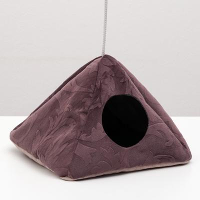 """Подвесной домик для грызунов """"Юрта"""", мебельная ткань ,флис, 20 х 20 см, микс цветов - Фото 1"""
