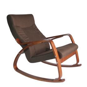 Кресло-качалка «Женева», жаккард, цвет шоколад