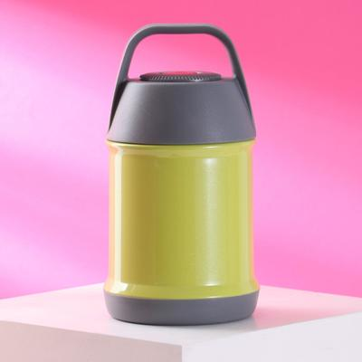 Термос для еды, 450 мл, сохраняет тепло 12 часов, оливковый - Фото 1