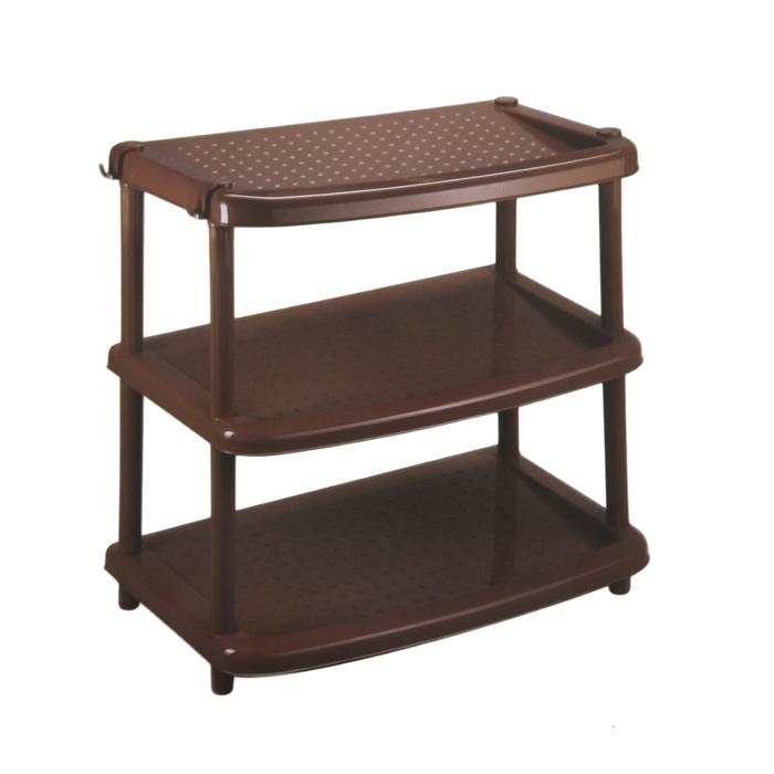 Этажерка для обуви «Паола», 3 яруса, 49×31×47 см, цвет коричневый