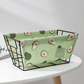 Корзина для хранения Доляна «Авокадо», 25×15×12 см