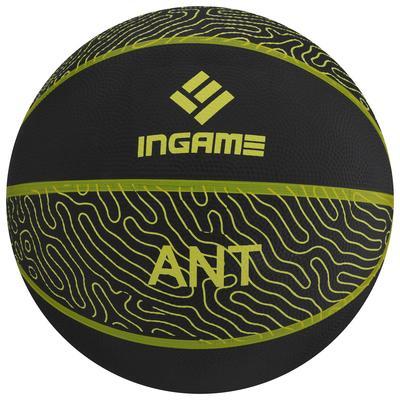 Мяч баскетбольный INGAME Ant №7 черно-желтый