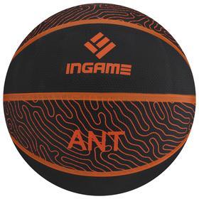 Мяч баскетбольный INGAME Ant №7 черно-оранжевый