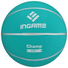 Мяч баскетбольный INGAME CHAMP №7 бирюзовый