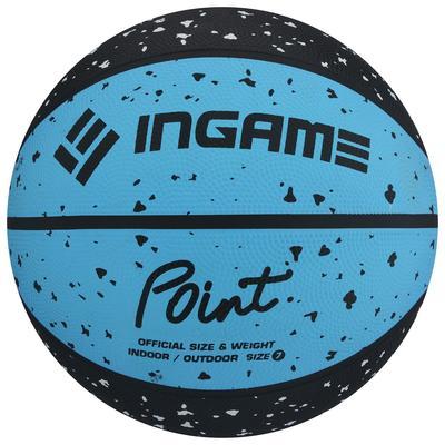 Мяч баскетбольный INGAME POINT №7  черно-синий