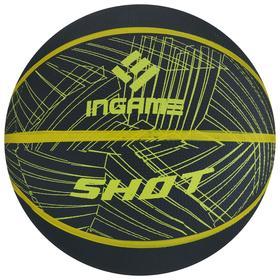 Мяч баскетбольный INGAME Shot №7 черно-желтый