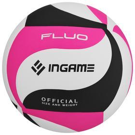 Мяч волейбольный INGAME FLUO черно-бело-розовый