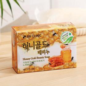 Мыло кусковое 3W Clinic Honey Gold Beauty Soap, с мёдом, 120 г
