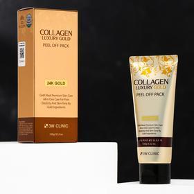 Золотая маска-плёнка для лица 3W Clinic Collagen & Luxury Gold, 100 мл