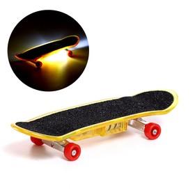 Пальчиковый скейт «Тони», со световыми эффектами, МИКС Ош