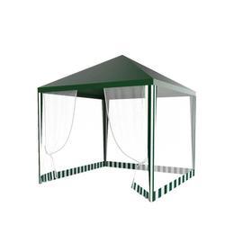 Шатер садовый 3*3м зеленый, закрытый Ош