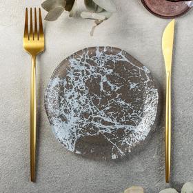 Тарелка Magistro «Мрамор», 15 см, цвет чёрный