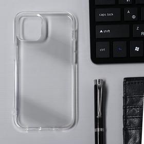 Чехол Krutoff, для iPhone 12 mini, силиконовый, прозрачный