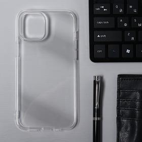 Чехол Krutoff, для iPhone 12 Pro Max, силиконовый, прозрачный