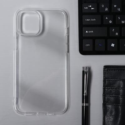 Чехол Krutoff, для iPhone 12 Pro Max, силиконовый, прозрачный - Фото 1