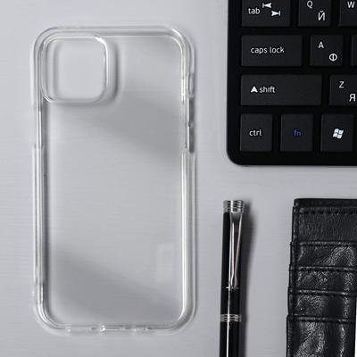 Чехол Krutoff, для iPhone 12/12 Pro, силиконовый, прозрачный - Фото 1