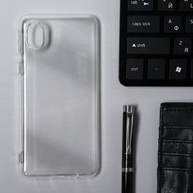Чехол Krutoff, для Samsung Galaxy A01 Core (A013), силиконовый, прозрачный