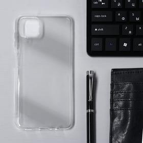 Чехол Krutoff, для Samsung Galaxy A12 (A125), силиконовый, прозрачный