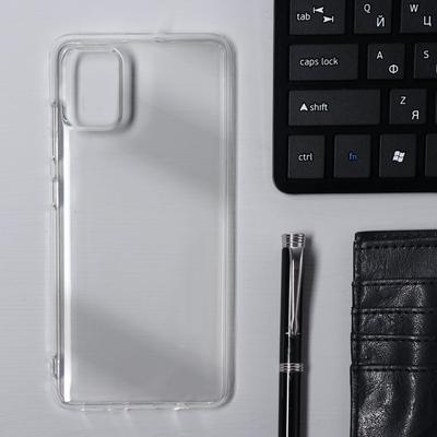 Чехол Krutoff, для Samsung Galaxy A51 (A515), силиконовый, прозрачный - Фото 1