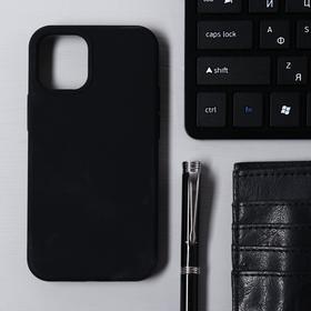 Чехол Krutoff, для iPhone 12 mini, матовый, черный