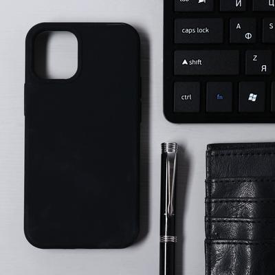 Чехол Krutoff, для iPhone 12 mini, матовый, черный - Фото 1
