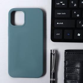 Чехол Krutoff, для iPhone 12 mini, матовый, темно-оливковый