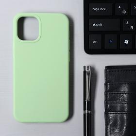 Чехол Krutoff, для iPhone 12 mini, матовый, мятный