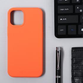 Чехол Krutoff, для iPhone 12 mini, матовый, оранжевый