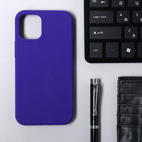 Чехол Krutoff, для iPhone 12 mini, матовый, фиолетовый
