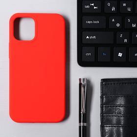 Чехол Krutoff, для iPhone 12 mini, матовый, красный