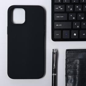 Чехол Krutoff, для iPhone 12 Pro Max, матовый, черный
