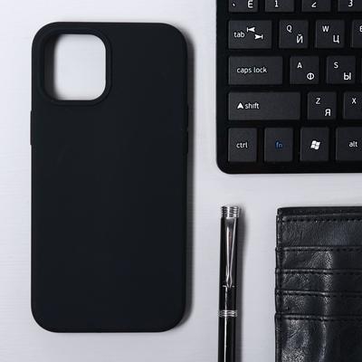 Чехол Krutoff, для iPhone 12 Pro Max, матовый, черный - Фото 1
