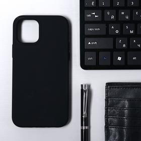 Чехол Krutoff, для iPhone 12/12 Pro, матовый, черный