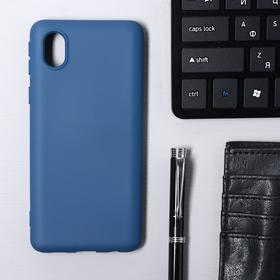 Чехол Krutoff, для Samsung (A013) Galaxy A01 Core, матовый, синий