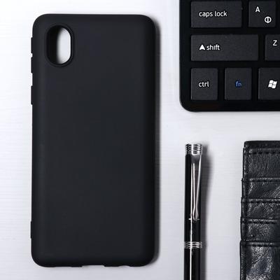 Чехол Krutoff, для Samsung (A013) Galaxy A01 Core, матовый, черный - Фото 1