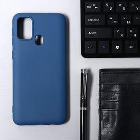 Чехол Krutoff, для Samsung Galaxy Galaxy M31 (M315), матовый, синий