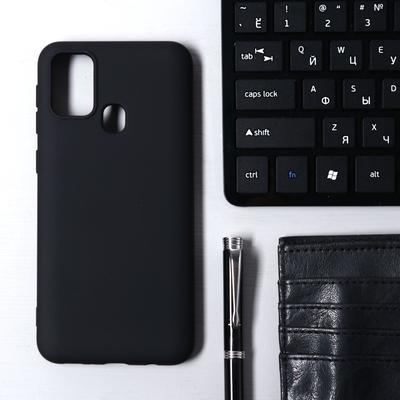 Чехол Krutoff, для Samsung Galaxy Galaxy M31 (M315), матовый, черный - Фото 1