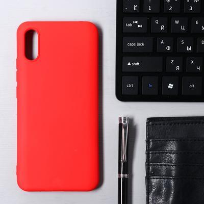 Чехол Krutoff, для Xiaomi Redmi 9А, матовый, красный - Фото 1