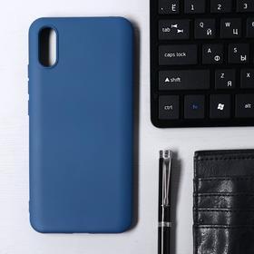 Чехол Krutoff, для Xiaomi Redmi 9А, матовый, синий