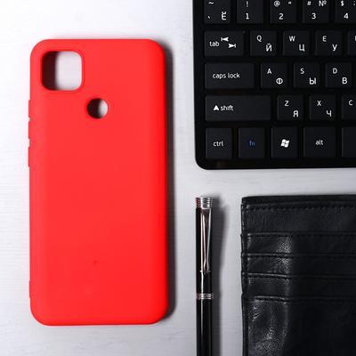 Чехол Krutoff, для Xiaomi Redmi 9С, матовый, красный - Фото 1