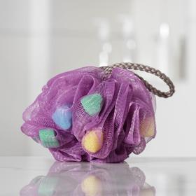 Мочалка для тела Доляна «Карнавал», 30 гр, цвет МИКС