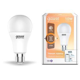 Лампа Светодиодная Gauss Smart Home DIM, А60, Е27, 10 Вт, 2700 К