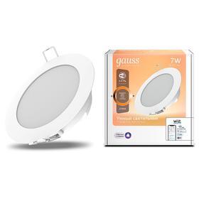 Светильник светодиодный Gauss Smart Home DIM, 7 Вт, 2700 К, диаметр 105 мм
