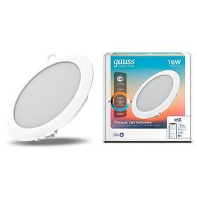 Светильник светодиодный Gauss Smart Home DIM DIM+CCT, 16 Вт, 2700-4000 К, диаметр 165 мм