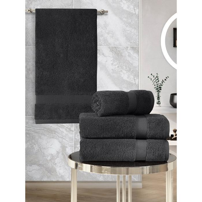 КМП Arel, размер 50x100 см - 2 шт,70x140 см -2шт, цвет тёмно-коричневый
