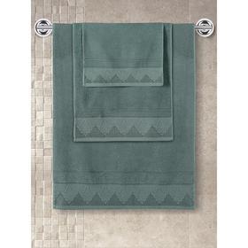 Полотенце махровое Siesta, размер 40x60 см, цвет зелёный